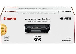 Original Canon Black Toner Cartridge CART 303 Twin Pack