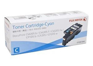 Original Fuji Xerox Cyan Standard Cap Toner Cartridge CT201592