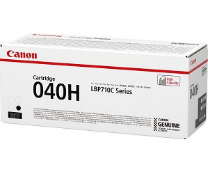 Original Canon Black High Cap Toner Cartridge CART 040H BK