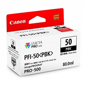 Original Canon Black Ink Cartridge PFI-50 PBK