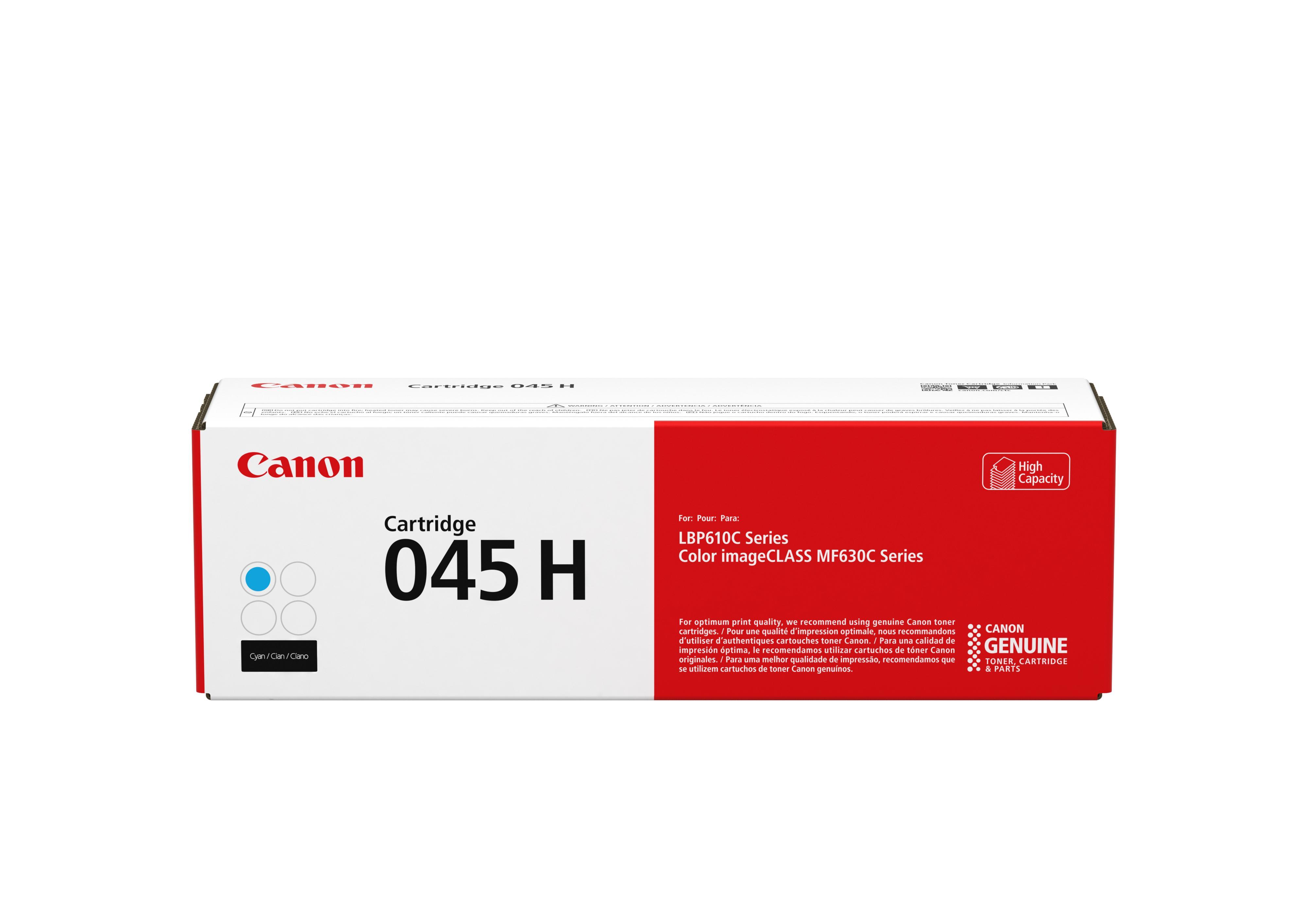 Original Canon Cyan High Cap Toner Cartridge CART 045H C