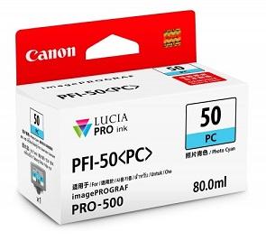 Original Canon Cyan Ink Cartridge PFI-50 PC