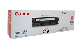 Original Canon Magenta Toner Cartridge CART 418 (MAGENTA)