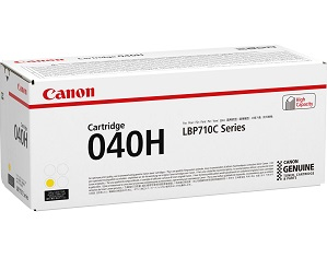 Original Canon Yellow High Cap Toner Cartridge CART 040H Y