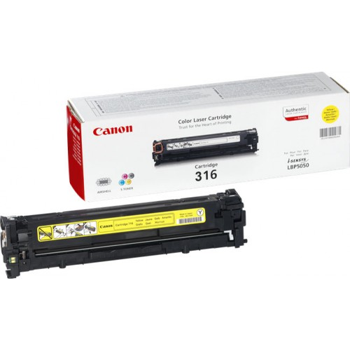 Original Canon Yellow Toner Cartridge CART 316 (Yellow)