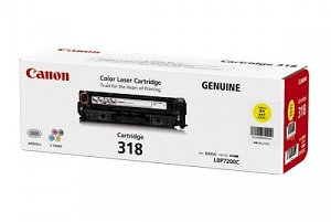 Original Canon Yellow Toner Cartridge CART 318 (Yellow)