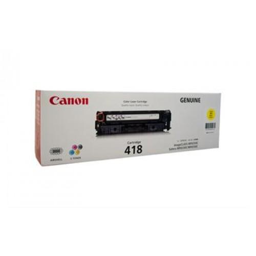 Original Canon Yellow Toner Cartridge CART 418 (Yellow)